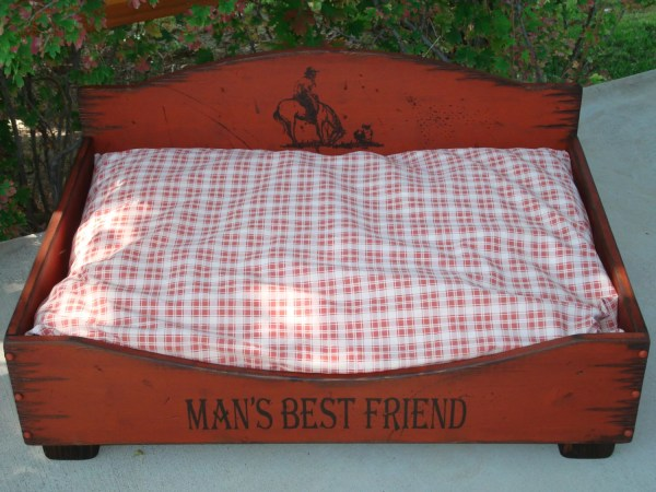 Large Dog Bed Western Wood Rustic