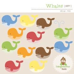 whale clip clipart cute whales