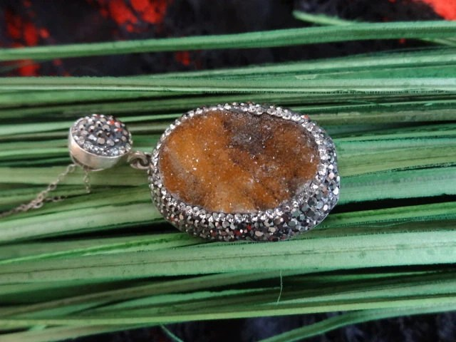 Drusy Pendant Rica Jewels California etsy Shop