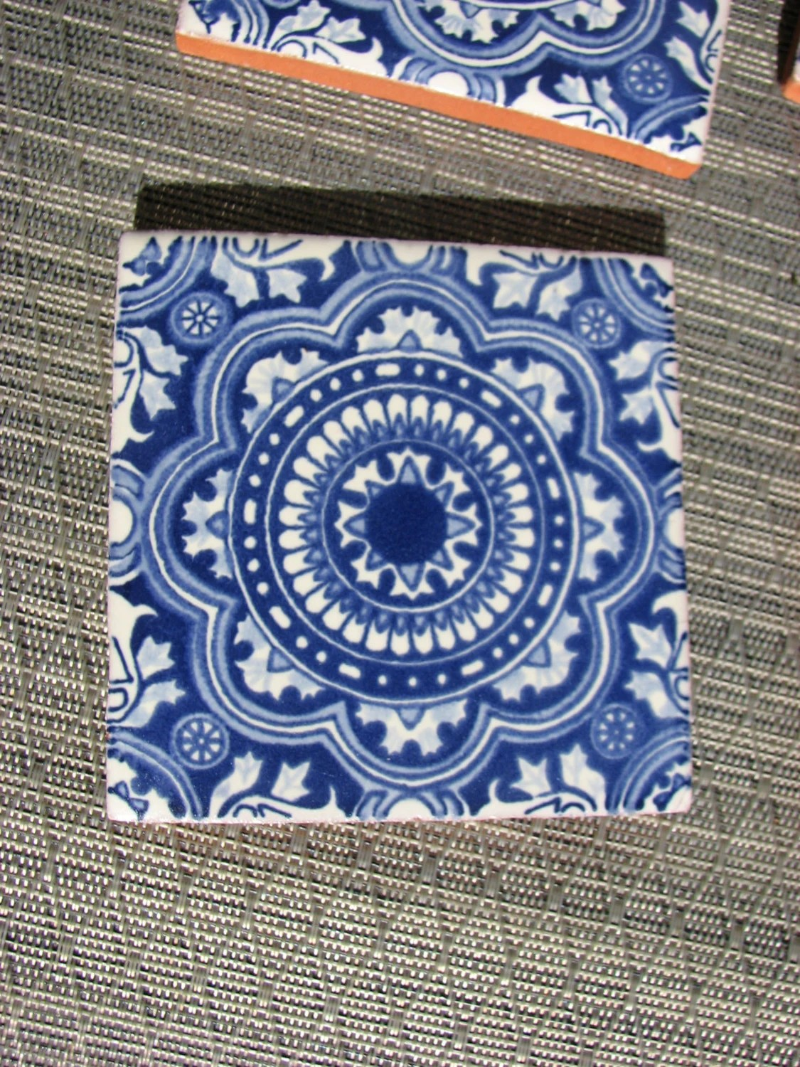 Blue and white Mexican tile Coasters set of 4