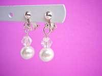 Children's clip on earrings Pearl earrings for kids