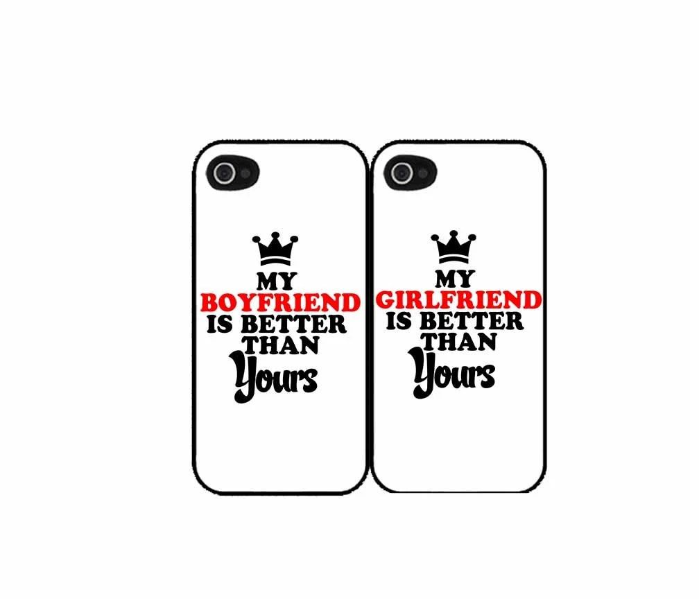 My Gf/Bf Is Better Than Yours SET OF 2 iPhone 4 4s 5 by