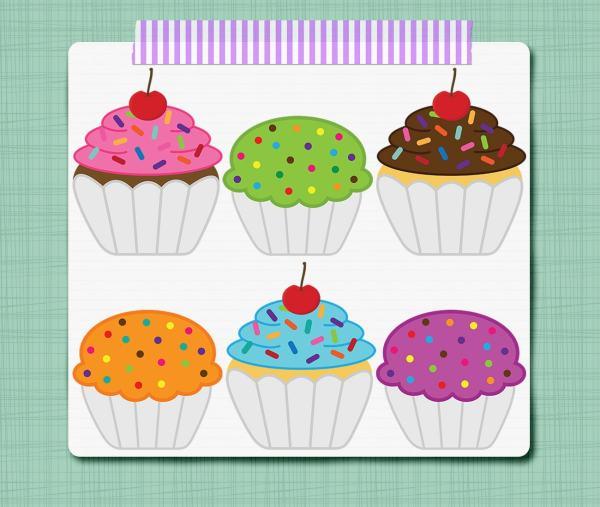 cupcake clip art birthday