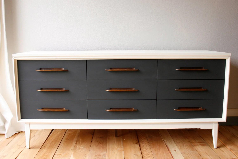 painted midcentury modern dressercredenza
