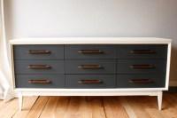 painted mid-century modern dresser/credenza