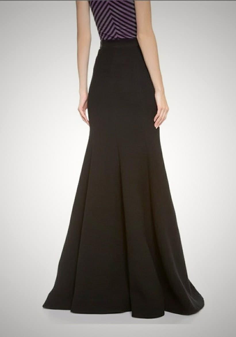Floor length maxi skirt Paneled skirt Mermaid silhouette
