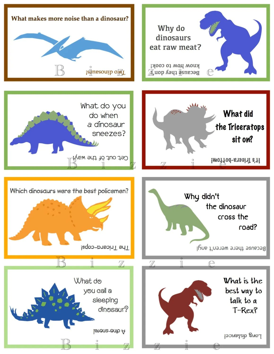 Fun Dinosaur Lunch Notes With Jokes Instant Digital