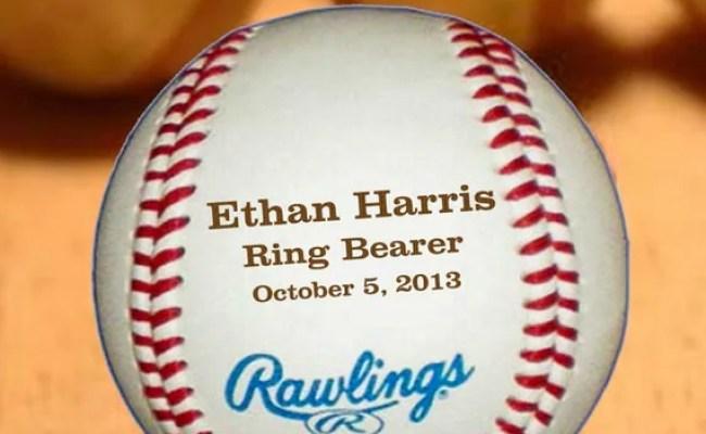 Ring Bearer Gift Personalized Baseball By Urbanfarmhousetampa