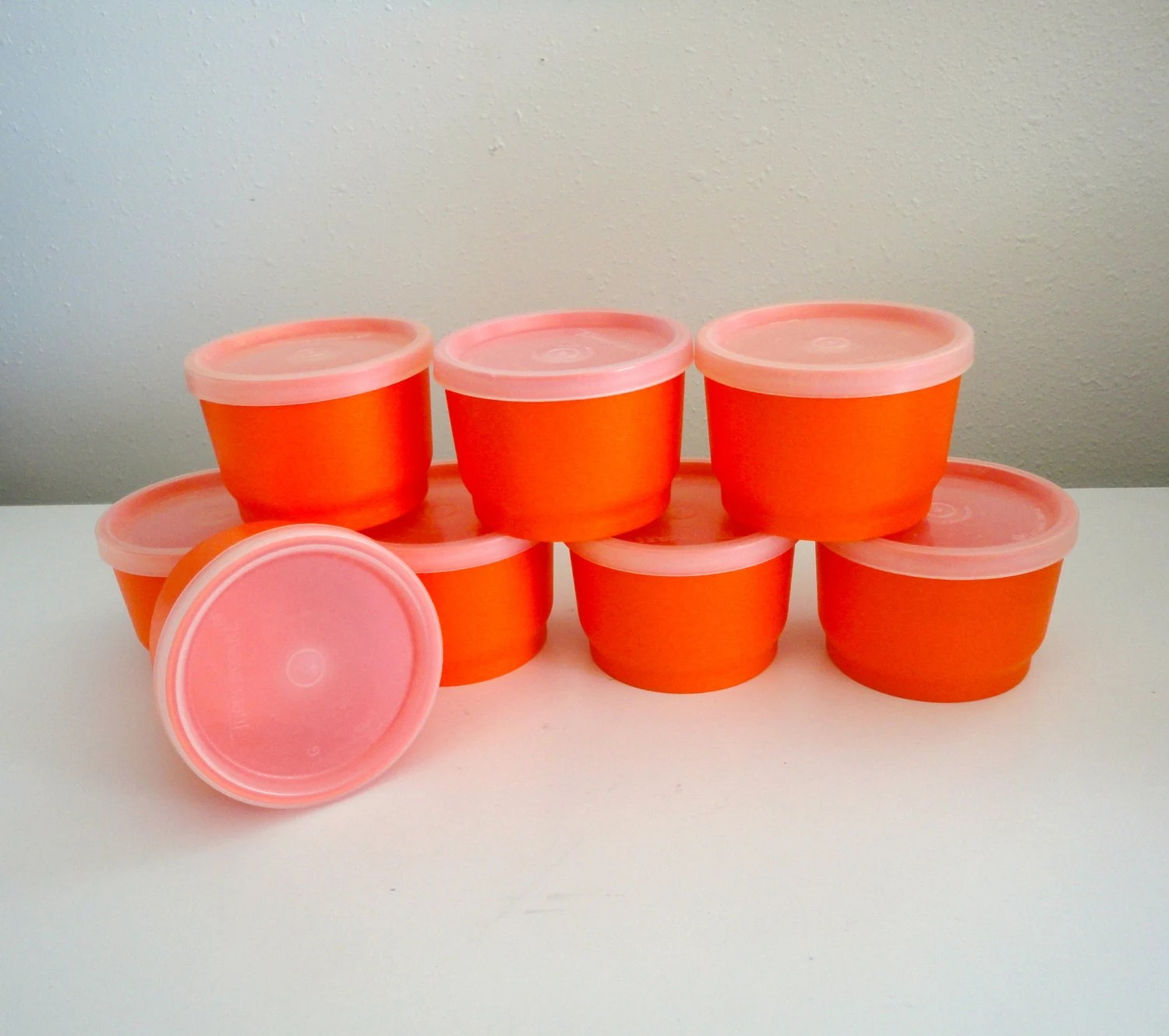 Vintage Tupperware Snack Cups Or Snack Containers With Lids In