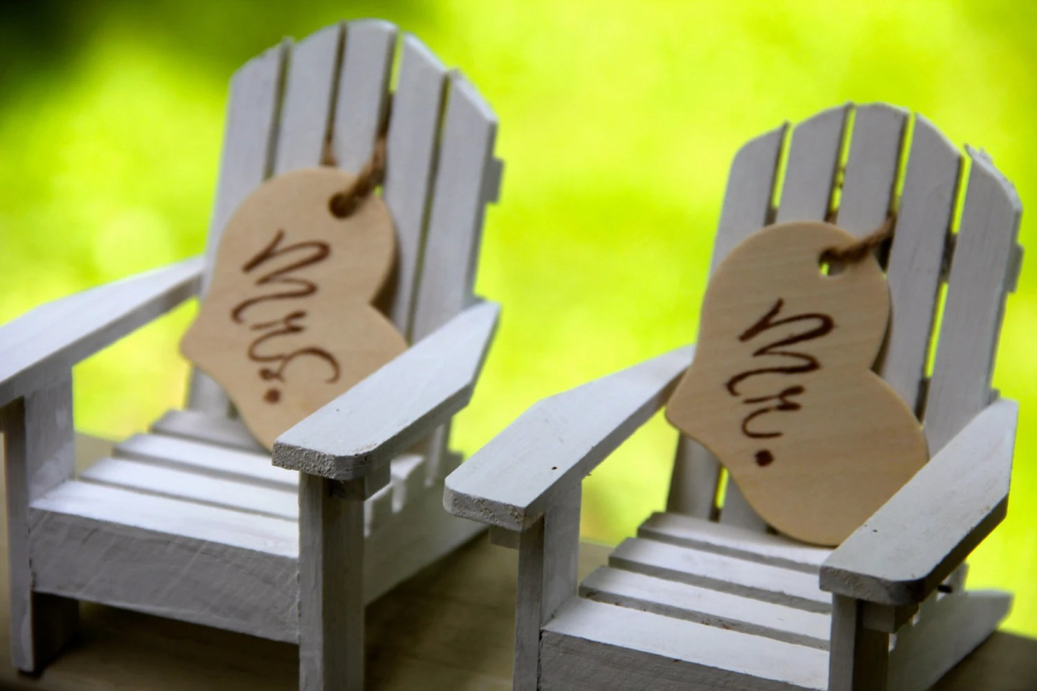 adirondack chair cake topper covers designs mr and mrs toppers set of by