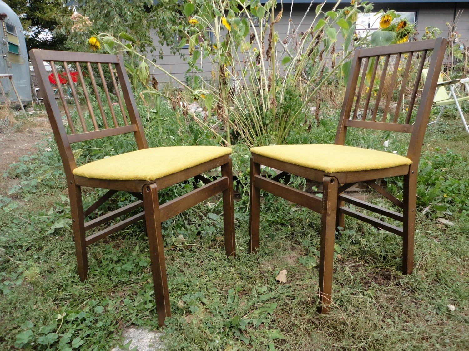 Stakmore Folding Chair 2 Stakmore Folding Chairs Vintage 50s 60s By