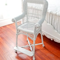 Antique High Back Wicker Chairs Upholstered Desk With Wheels Victorian Hi Chair By Vintagechicfurniture