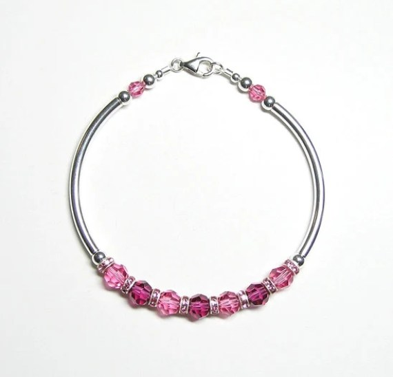 Bright pink & fuchsia fitted bracelet