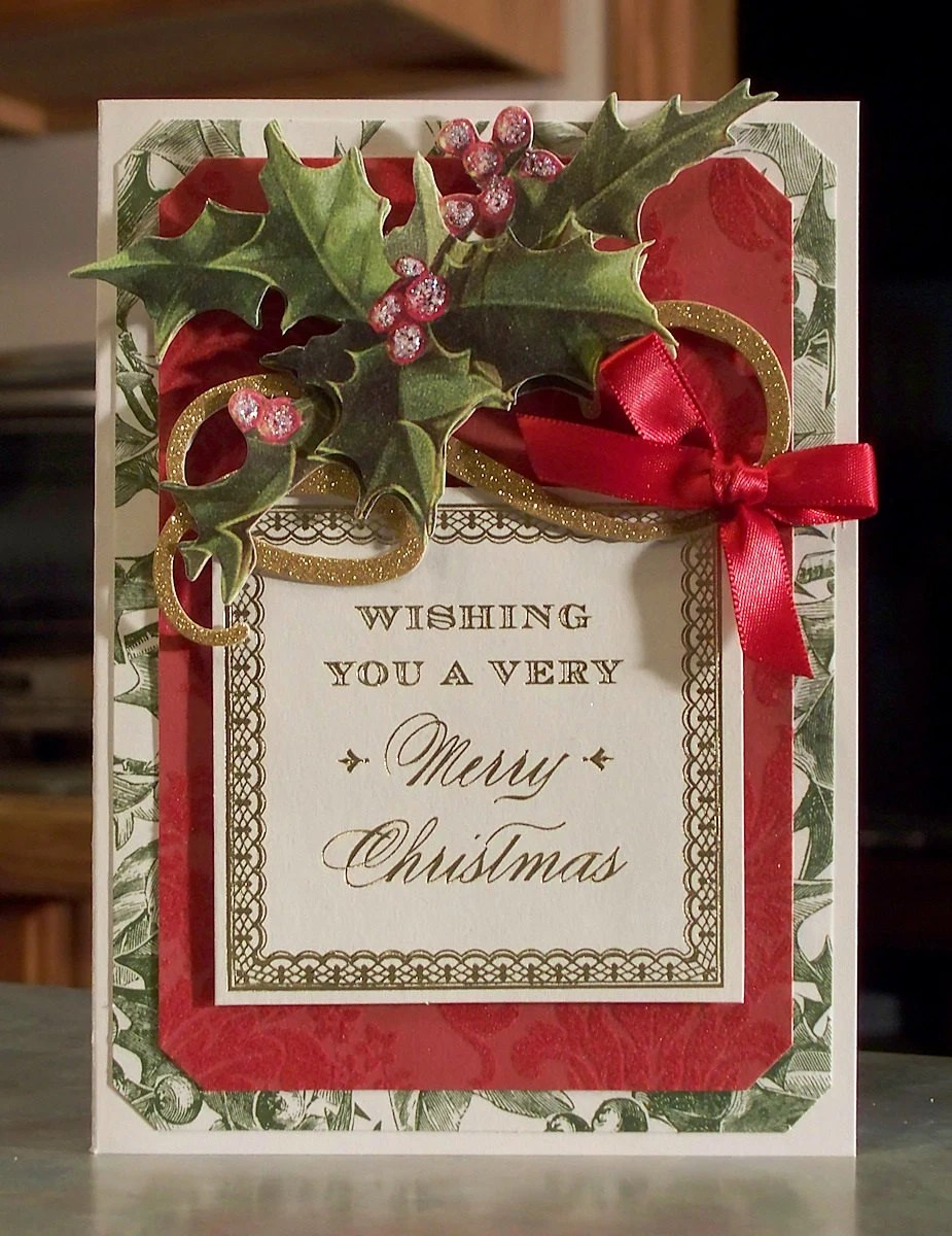 Handmade Christmas Card Using Anna Griffin Products