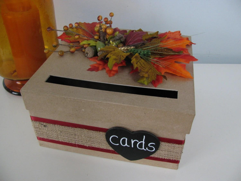 Items Similar To Rustic Wedding Card Box, Handmade CardBox