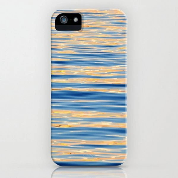 Monet Memories - Fine Art Photography, I Phone 5 Case, 4/4s Phone Covers, Blue Ocean Waves Slim Case, Sunset, Reflection, Tranquil, Abstract - PhotosByChipperfield
