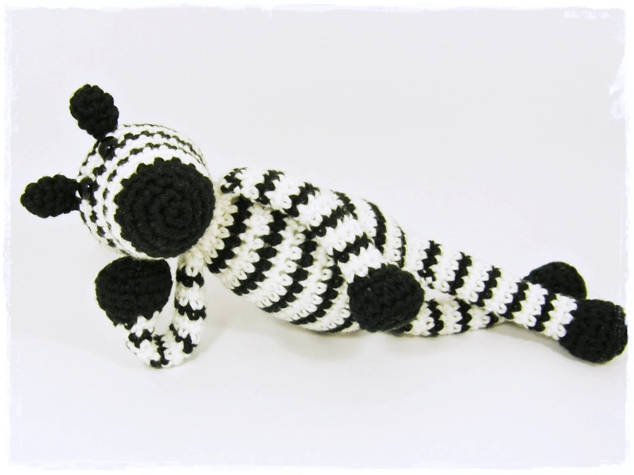 Crochet pattern amigurumi zebra baby toy pdf tutorial in US