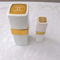 Red Canister Set For Kitchen Unfinished Pine Cabinets Of 2 Chanel No 22 Spray Cologne White Enamel And Gold