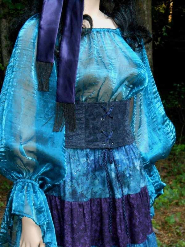 D123 Women' Renaissance Gypsy Wench Pirate Blouse