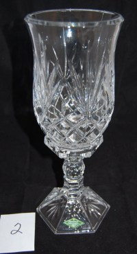 Candle Holder w Hurricane Shade Shannon Crystal Designs of
