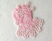 Snow Angel,  Angel Ornament, Machine Embroiderd Angel - AliDianneCreations