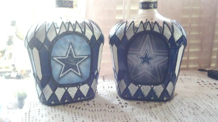 Dallas Cowboys Football Crown Royal Hand Painted By