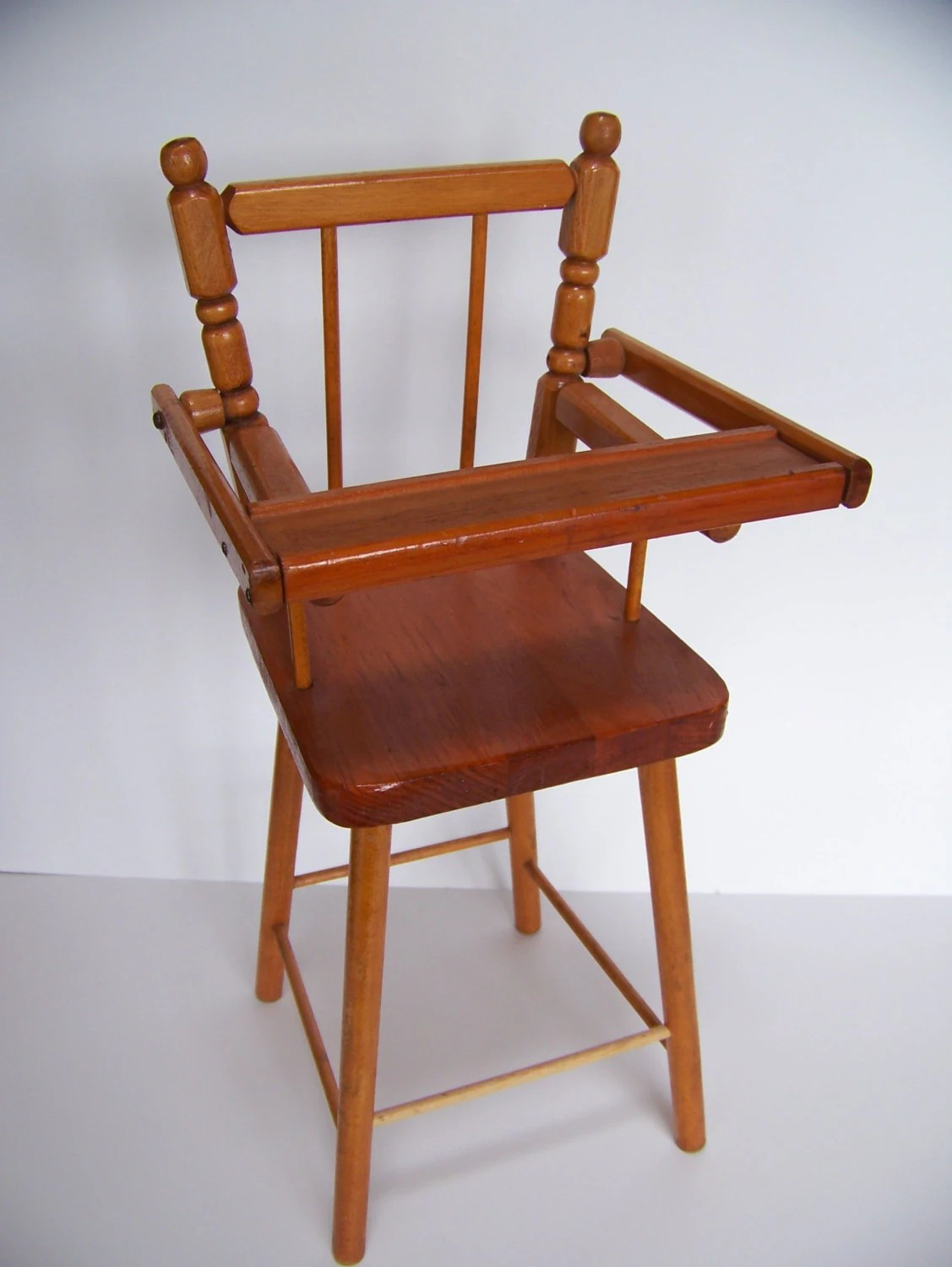 Wooden High Chair Vintage Wooden Doll High Chair