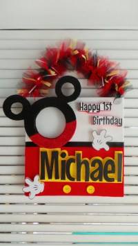 Beautiful Door Decoration Mickey Mouse Birthday