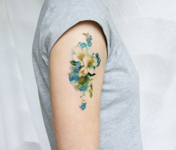 fake tattoo floral flower