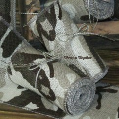 Burlap Chair Sashes Canada Nautical Bedroom Brown Camouflage Ribbon 5in Camo