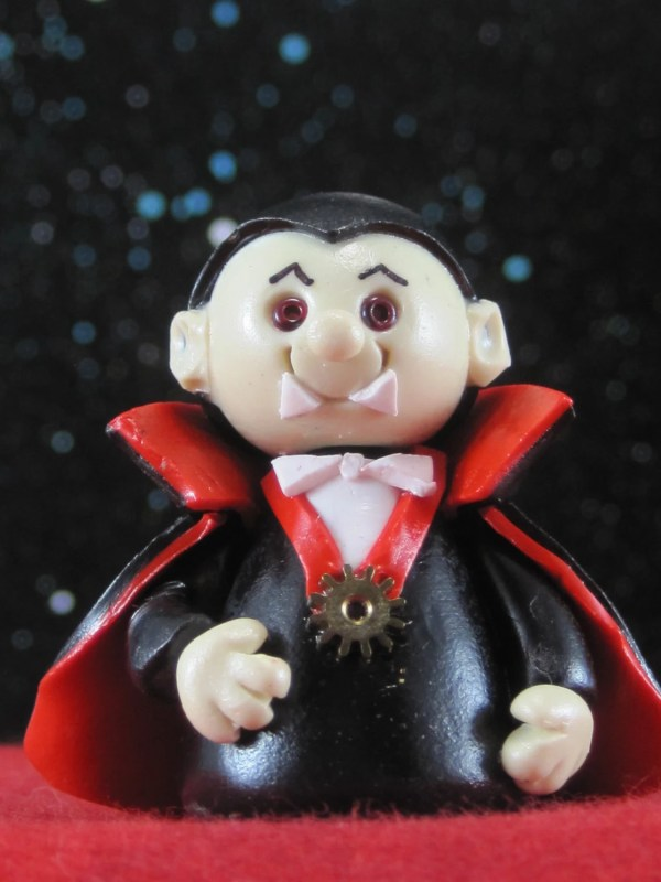 Dracula OOAK Vampire Wee Monster for Fairy Garden Cake