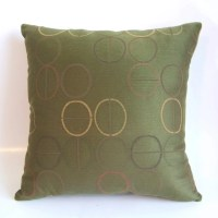 Olive Green Decorative Pillow by HollysHobbies4U on Etsy