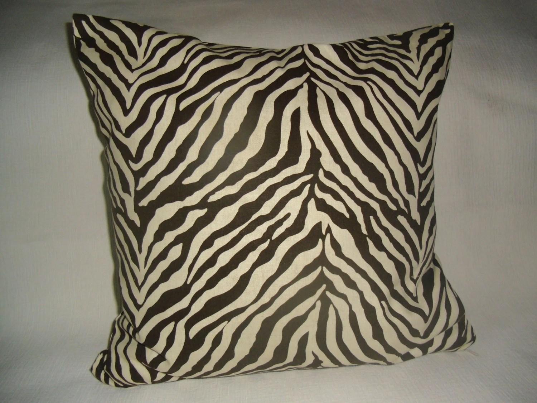Kuwaha Zebra Animal Print Decorative Pillow Cover by myKuwaha