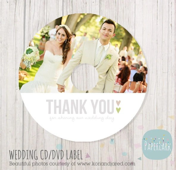 Wedding CD label photoshop template EW001 INSTANT Download