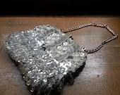 Vintage Ice & Sparkle Vintage Rhinestone Beaded Evening Handbag - GoingBackwithTNJed