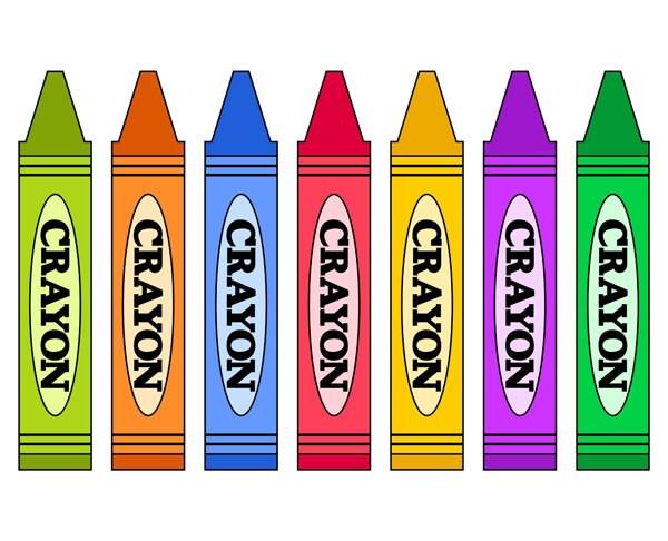 colorful crayons clip art school
