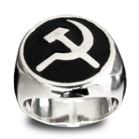 Silver Communist Hammer and Sickle USSR Ring by ...
