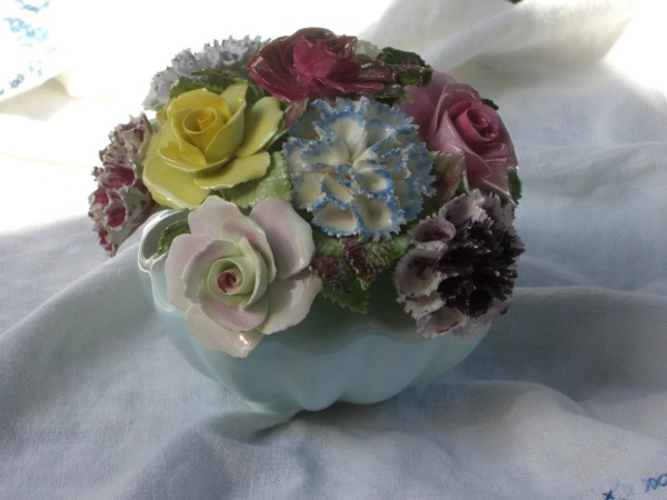 Royal Adderley Bowl Of Bone China Flowers