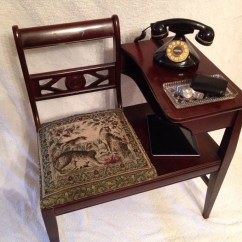 Old Office Chair And Table Hook On High Reviews Antique Telephone With Seat Or Gossip Bench