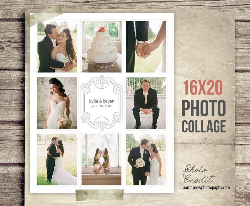 Wedding Collage Blog Board Wedding Photo Collage Poster