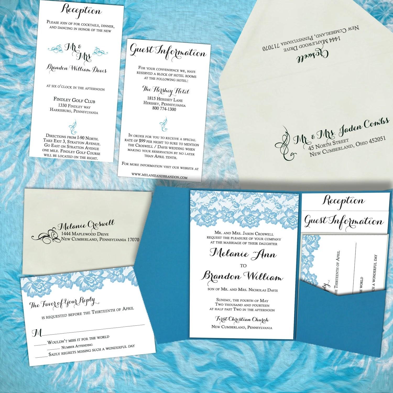 DIY Wedding Invitation Vintage Lace Modern Wedding Invitations Tarbriz Bl