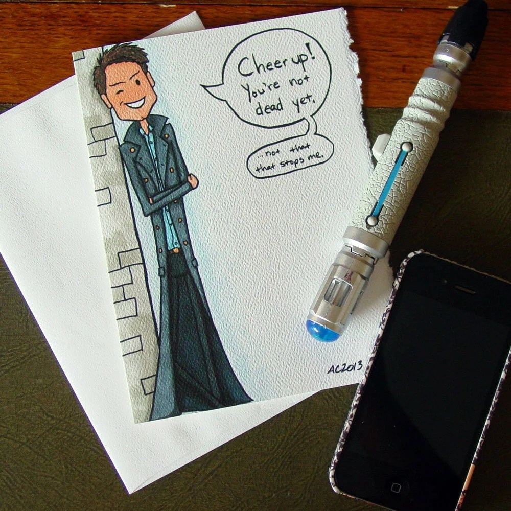 Doctor Who Birthday Card Captain Jack Harkness Cheer Up