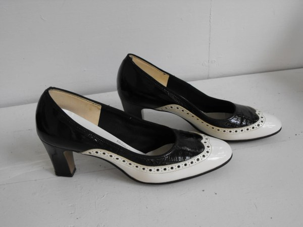 Vintage Spectator Shoes Black White Heels Gaymode Jc Penney 6