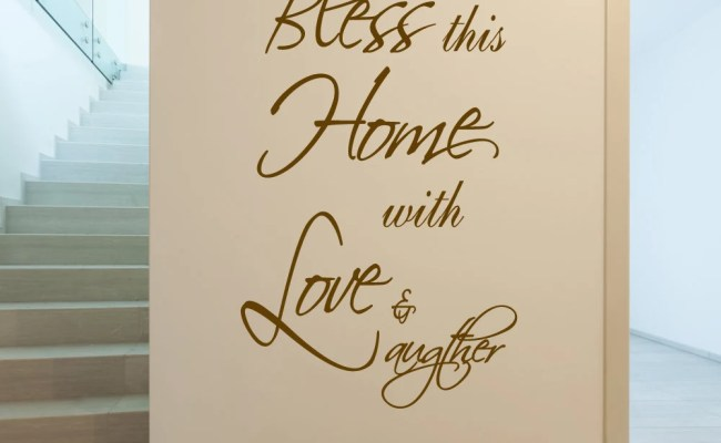 Bless This Home Wall Decal Decor Art Vinyl Living By