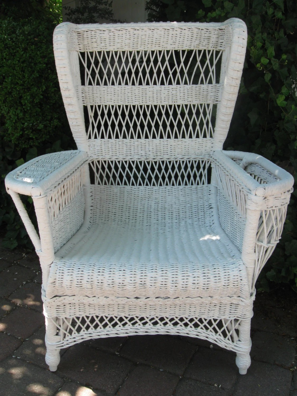 Antique Wicker Chairs Vintage Wicker Chair Bar Harbor Treasury Item