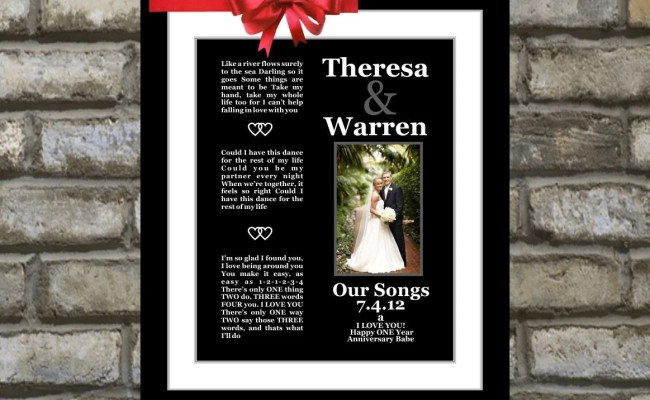 1st First Wedding Anniversary Gift For Him Wife By
