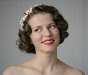 1940s hair accessory pink flower