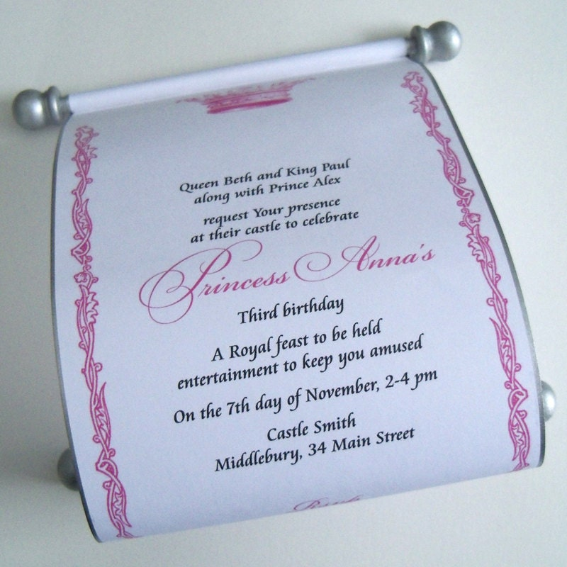 Prince and princess invitation wording for ball stopboris Image collections
