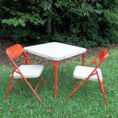 Card Table With Chairs Papasan Chair Frame Diy Antique Furniture Vintage Childrens