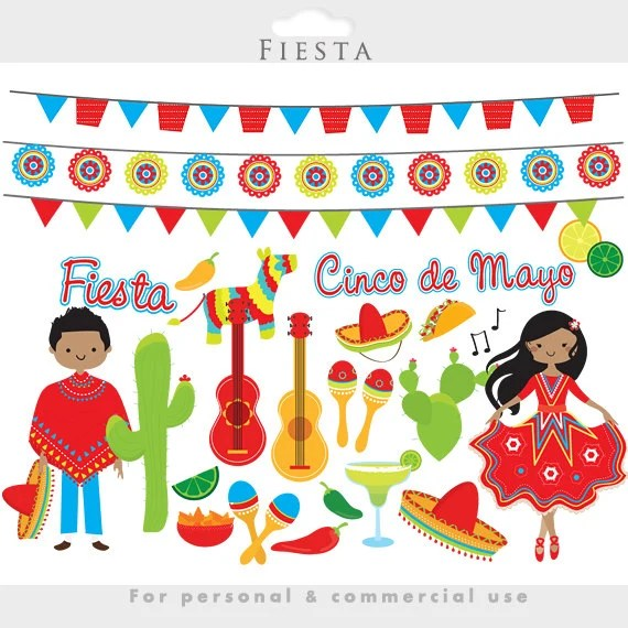 fiesta clipart mexican cinco